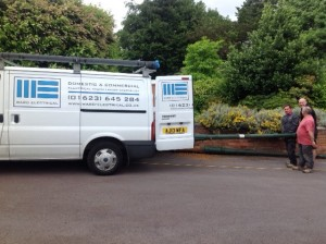 Having to use the van to move the posts around due to their weight!