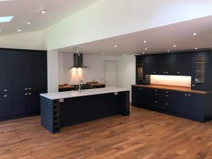 Bespoke kitchen installation with LED downlights