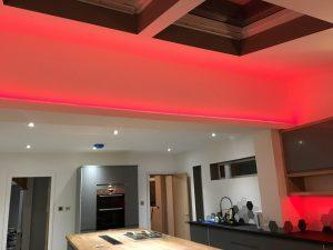 Bespoke Kitchen with LED effect lighting
